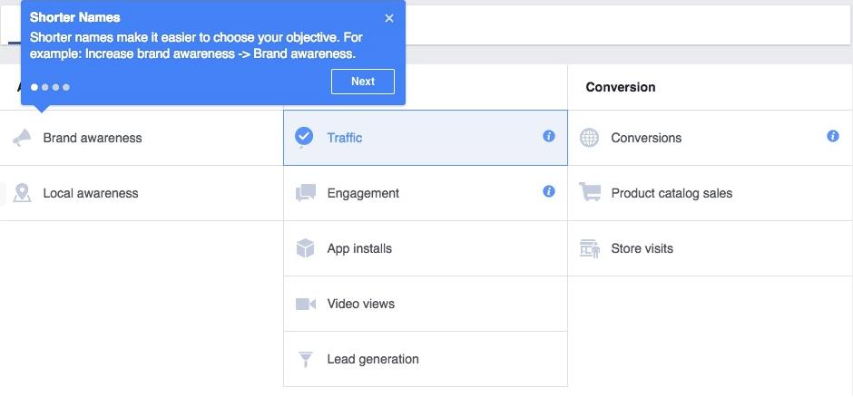 Neue Zielsetzungen beim Facebook Power Editor