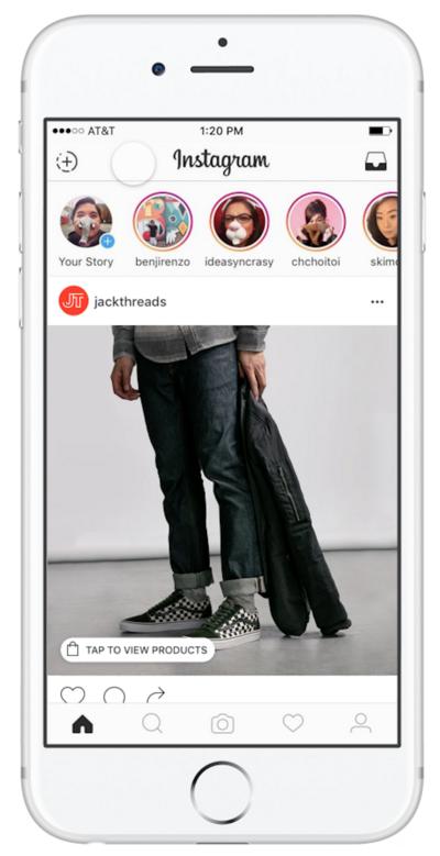 Instagram testet eine E-Commerce-Funktion