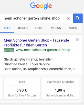 Anzeigenerweiterung: Preiserweiterung bei AdWords
