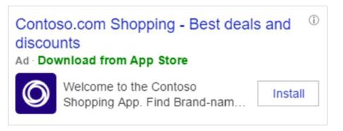 App Install Ads bei Bing in USA im Test