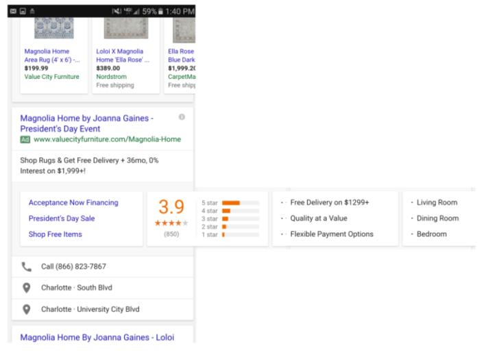 Google Anzeigenerweiterung