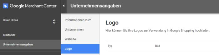 Upload von Logos im Google Merchant Center