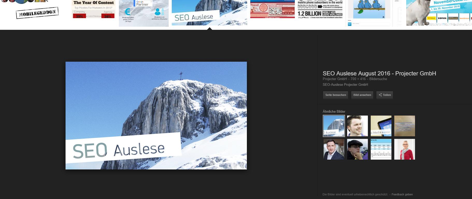 Bildersuche in Google und seine Veränderungen in Deutschland