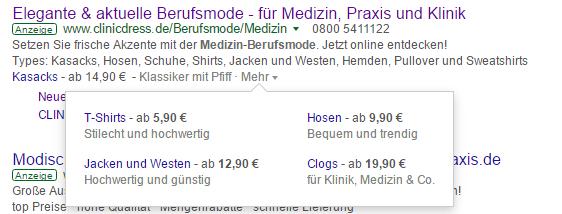 neue Preiserweiterungen bei Google AdWords