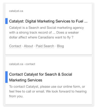 Googles neueste Tests auf Suchergebnisseiten
