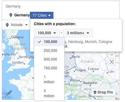 Update des Facebook Geo-Targeting