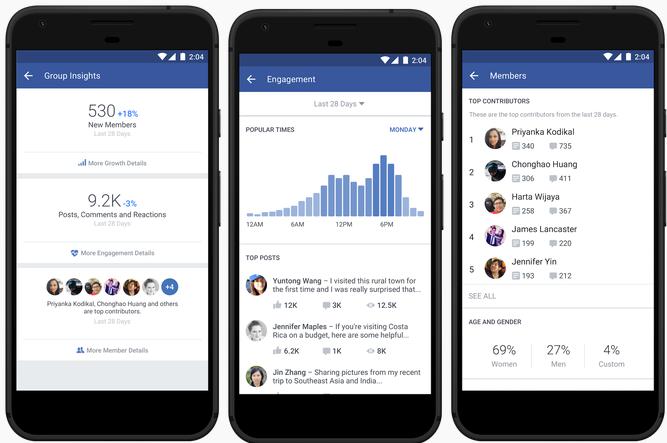 Facebook Gruppen - Group Insights