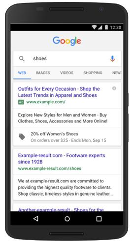 Promotion Anzeigenerweiterung bei Google AdWords
