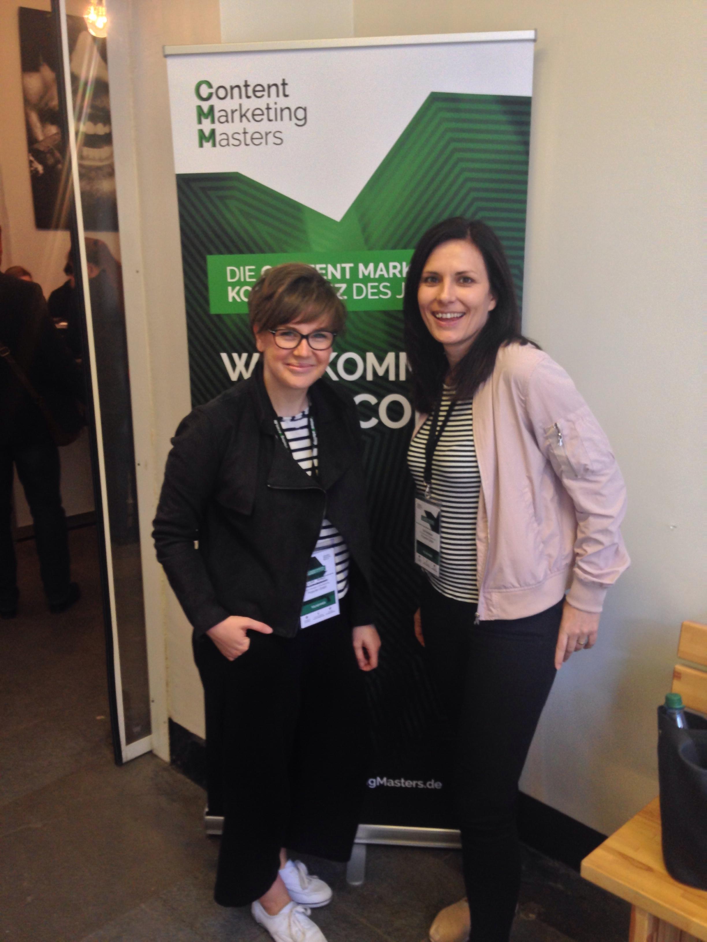 Grit und Claire bei der Content Marketing Masters 2017