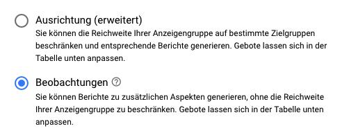 """Neue Begriffe für """"Ausrichtung und Gebot"""" und """"Nur Gebot"""""""