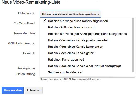 YouTube Remarketing-Listen