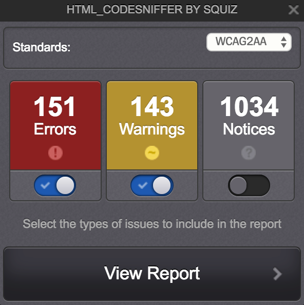 HTML Code Sniffer