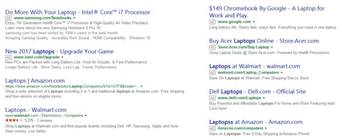 Bing testet Anzeigen-Labels