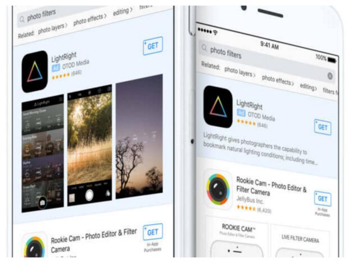 Werbung im App Store