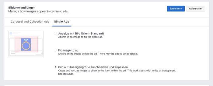 Facebook Bildumwandlungen