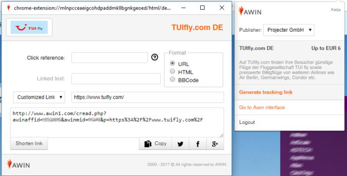 MyAwin Chrome Plug-in