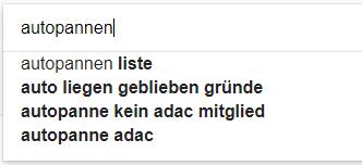 Nutzerintention in den Google Suchergebnissen