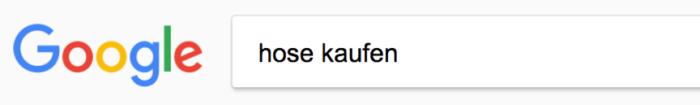 Google Suche nach Hose kaufen