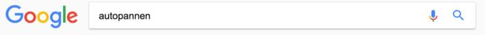 Google Suche nach dem Wort Autopannen