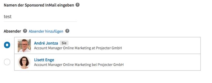 Sponsored InMails auf Linkedin