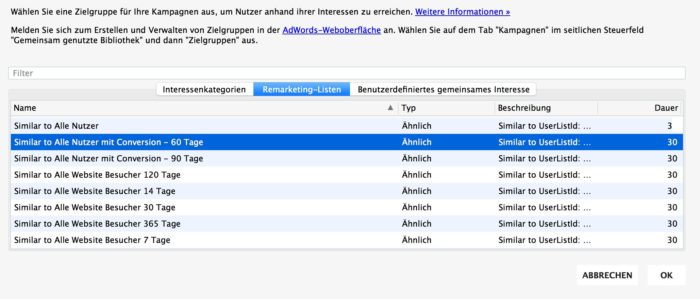 multiple Anzeigengruppen im AdWords Editor integrieren
