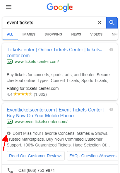 AMP-Label in Search Ads