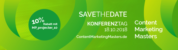 10% auf Content Marketing Masters 2018