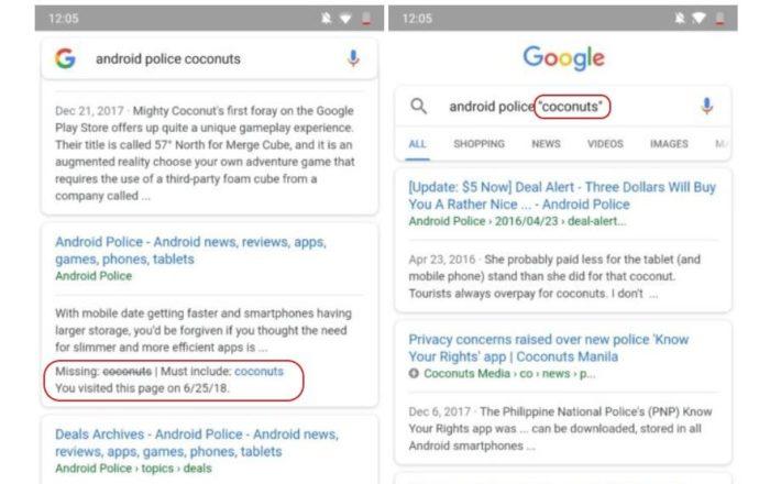 """Google Websuche """"Exact""""-Operator für exaktere Suchanfragen"""