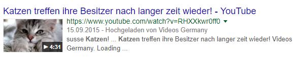 Google stellt Videos jetzt in Karussell-Form dar