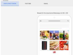Erstellung von responsiven Anzeigen im Google Display Netzwerk