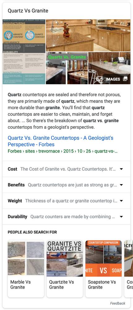 Anreicherung der Google Suchergebnisse mit relevanten Unterthemen