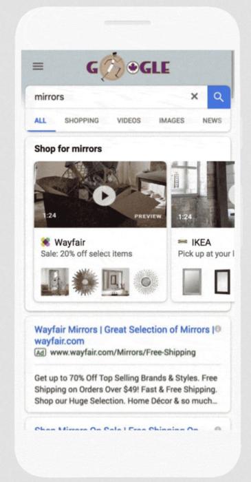 Showcase Shopping Anzeige mit Video