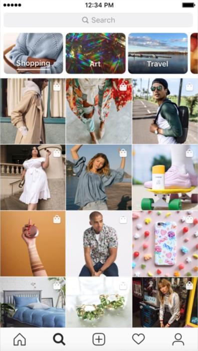 Shopping-Channel auf Instagram