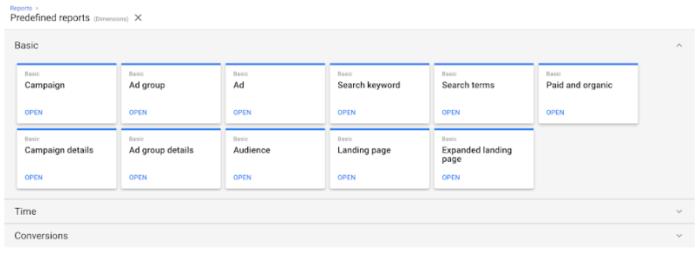 """Neue vordefinierte Berichte: """"Landing Page"""" und """"Expanded landing page"""""""