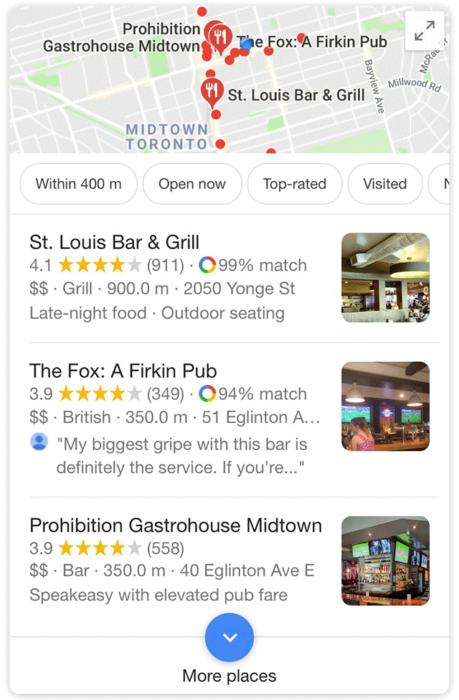 Google Maps Your Match Score