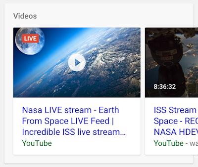 Livestreams erscheinen nun auffälliger in den SERPs (Quelle: webmasters.googleblog.com)