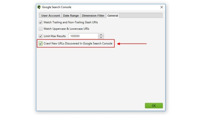 Sccreaming Frog Automatisch Search Console