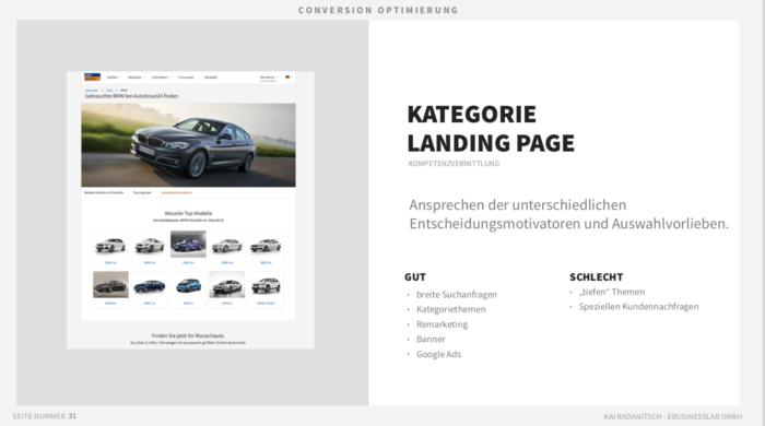 """Quelle: Vortrag """"Mobile Landing Pages - Kunden von Adwords, Facebook und Whatsapp konvertieren. 12 LP Typologien für die nächste Kampagne"""" von Kai Radanitsch"""