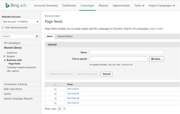 Erstellung von Seitenfeeds in der gemeinsamen Bibliothek