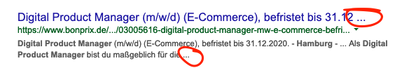 "Screenshot Snippet für ""digital product manager hamburg"""