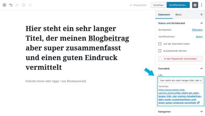 Wordpress: lange Überschrift