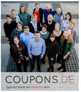Auf dem Bild zu sehen ist das Team von Coupons.de (früher Coupon4U)