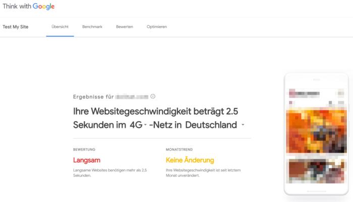 Das Bild zeigt wie Test My Site in neuer Optik und mit neuen Funktionen erstrahlt