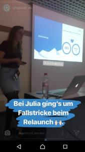 Julia als Speaker zum Thema LocalSEO auf der Campixx 2019