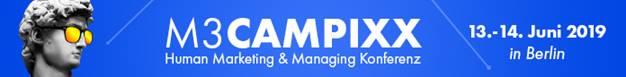 Zu sehen ist ein Banner der M3 CAMPIXX-Konferenz