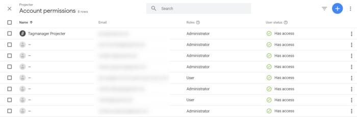 Google Tag Manager User Management