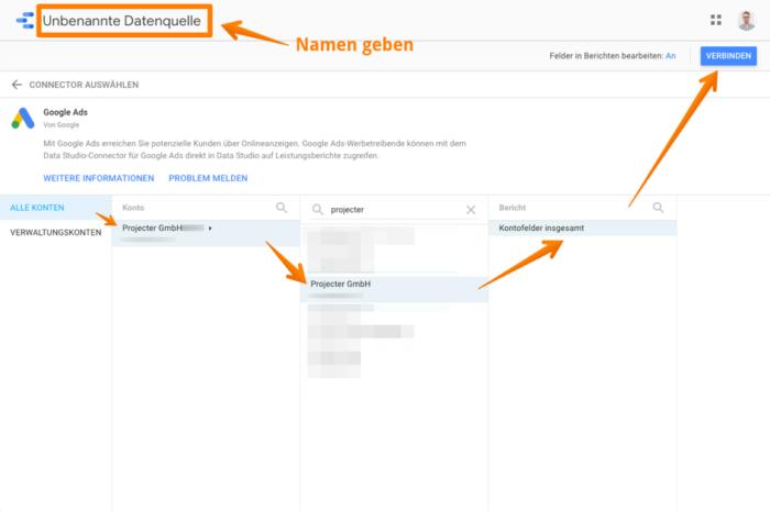 Mit Google Ads Account verbinden