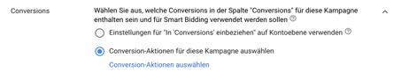 Smart Bidding Conversion Goals