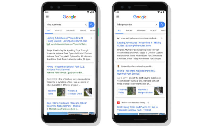 Mobile Suche Design-Update