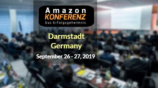 ZU sehen ist ein Werbebanner der Amazon Seller Konferenz.